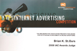 2008 Internet Advertising Compeition Awards Judge